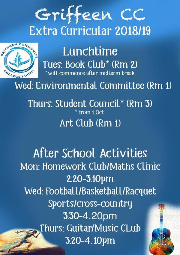 Extra Curricular Timetable